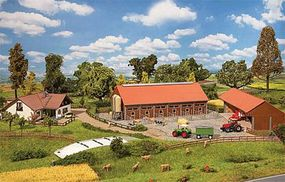 Faller Farmers House, Barn & Outbuildings N Scale Model Railroad Building #232367