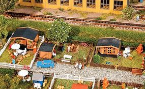 Faller Allotment Garden Set #1 Kit N Scale Model Railroad Accessory #272550