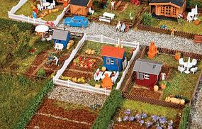 Faller Allotment Garden Set #2 Kit N Scale Model Railroad Building Accessory #272551