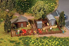 Faller Allotment Garden Set #3 Kit N Scale Model Railroad Building Accessory #272552