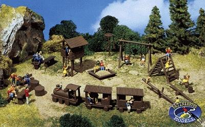 Faller Gmbh Adventure Playground Kit -- N Scale Model Railroad Accessory -- #272568