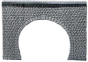 Faller Double Track Tunnel Portal (Natural Stone Ashlars) N Scale Model Railroad Tunnel #272631