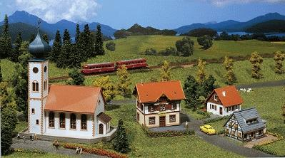 Faller Gmbh Village Set -- Z Scale Model Railroad Building -- #282777