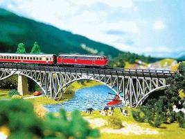 Faller Deck Arch Bridge Kit Z Scale Model Railroad Bridge #282915