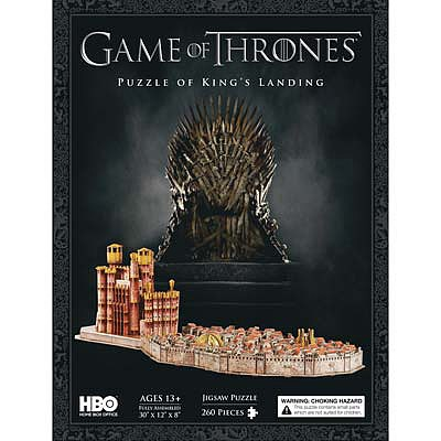 4D Cityscape Puzzles 3D Game of Thrones Kings Landing -- 3D Jigsaw Puzzle -- #51003