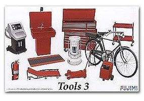 Fujimi Garage Tools Set #3 Plastic Model Vehicle Accessory Set 1/24 Scale #11373