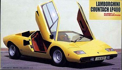 lamborghini countach lp400 sports car plastic model car kit 1 24 scale 12210 by fujimi 12210. Black Bedroom Furniture Sets. Home Design Ideas