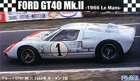 Fujimi Ford GT40 Mk II #1 1966 LeMans Race Car Plastic Model Car Kit 1/24 Scale #12604