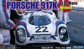 Fujimi Porsche 917K Martini 1971 LeMans Winner Race Car Plastic Model Car Kit 1/24 Scale #12614