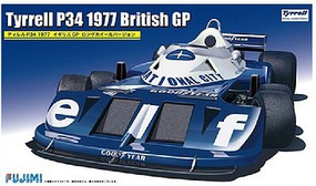 Fujimi Tyrrell P34 1977 British Grand Prix Race Car Plastic Model Car Kit 1/20 Scale #9191