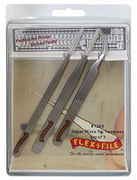 Flex-I-File SUPER MICRO TIP TWEEZER 3pak