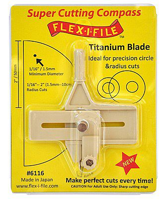 Flex-I-File Super Cutting Compass w/Titanium Blade for Precision Circle & Radius Cuts