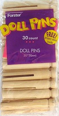 Forster Manufactuing Doll Pins (30/Bag)