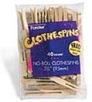 Forster Flat No-Roll Clothespins (40/Bag)