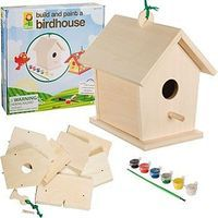 4M-Projects Build & Paint Bird House Kit Wooden Bird House Kit #2957