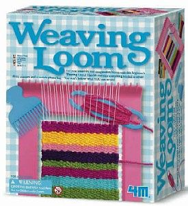 4M Project Kits Weaving Loom Kit -- Fabric Craft and Activity -- #3429