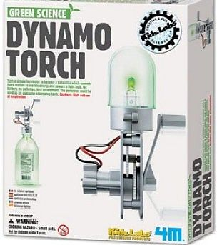 4M Project Kits Dynamo Torch Green Science Kit -- Science Engineering Kit -- #3645