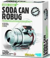 4M-Projects Soda Can Robug Green Science Kit Science Engineering Kit #3647