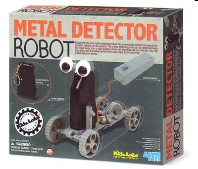 4M Project Kits Remote Control Metal Detector Robot Kit -- Science Engineering Kit -- #4607