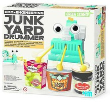 4M-Projects Junk Yard Drummer Green Science Kit