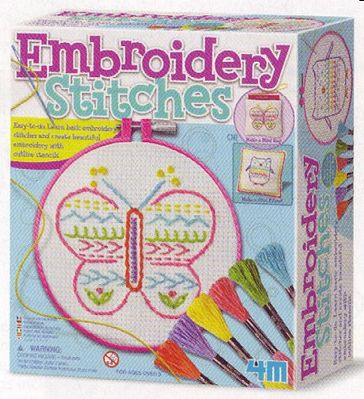 4M Project Kits Embroidery Stitches Kit -- Drawing Kit -- #5639