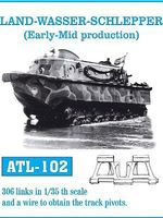 Fruilmodel Land-Wasser-Schlepper Tank Track Link Set Plastic Model Tank Tracks 1/35 Scale #102