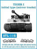 Fruilmodel Tiger I Initial Type Tank Track Link Set Plastic Model Tank Tracks 1/35 #116