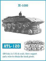 Fruilmodel E100 Tank Track Link Set (420 Links) Plastic Model Tank Tracks 1/35 Scale #120