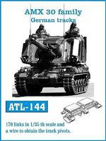 Fruilmodel German AMX 30 Family Track Set (170 Links) Plastic Model Tank Tracks 1/35 Scale #144