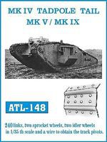Fruilmodel 1/35 Mk IV Tadpole Tail, Mk V/IX Track Set (240 Links & 2ea. Sprocket/Idler Wheels)