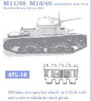Fruilmodel M11/39 M13/40 Semovente Plastic Model Tank Tracks 1/35 Scale #18