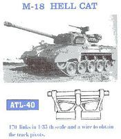 Fruilmodel M18 Hellcat Tank Track Link Set (170 Links) Plastic Model Tank Tracks 1/35 Scale #40