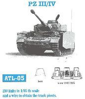 Fruilmodel Pz III/IV Mod. 1942/45 Tank Track Link Set (230 Links) Plastic Model Tank Tracks 1/35 #5