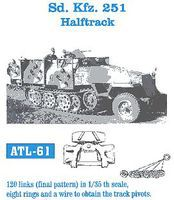 Fruilmodel SdKfz 251 Halftrack Tank Track Link Set (120 Links) Plastic Model Halftrack Tracks 1/35 #61