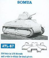 Fruilmodel Somua Tank Track Link Set (230 Links) Plastic Model Tank Tracks 1/35 Scale #67