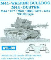 Fruilmodel M41 Walker Bulldog/M42 Duster Tank Track Link Set ( Plastic Model Tank Tracks 1/35 #80