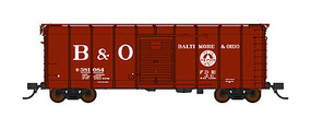 Fox B&O Class M-53 Wagontop Boxcar w/Youngstown Doors - Ready to Run Baltimore & Ohio #381084 (Boxcar Red, Low Lettering, 13 States, Billboard B&