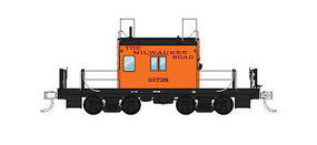 Fox Transfer Caboose Milwaukee Road #01744 HO Scale Model Train Freight Car #31160
