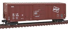 Fox P-S 5344 Single Door Boxcar Milwaukee Road #50852 N Scale Model Train Freight Car #81067