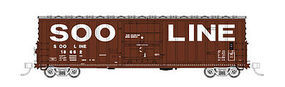 Fox 7 Post Boxcar SOO Line #18662 N Scale Model Train Freight Car #81791
