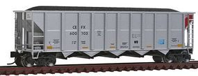 Fox Trinity RD-4 Hopper 12-Pack CEFX Set #2 (silver, red) N Scale Model Train Freight Car #83192