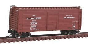 Fox Short-Rib 40 Rib-Side Boxcar Milwaukee Road #21632 N Scale Model Train Freight Car #90222