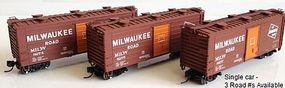 Fox 40 Boxcar Milwaukee Road 8277 N Scale Model Train Freight Car #90266