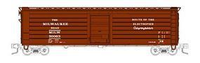Fox 50 Single-Door Rib-Side Boxcar Milwaukee Road #50063 N Scale Model Train Freight Car #90413