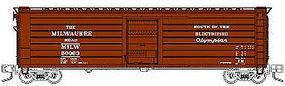 Fox 50 Single-Door Rib-Side Boxcar Milwaukee Road #50116 N Scale Model Train Freight Car #90414
