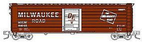 Fox 50 Single-Door Rib-Side Boxcar Milwaukee Road #54109 N Scale Model Train Freight Car #90422
