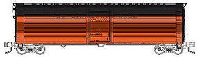 Fox 50 Single-Door Rib-Side Express Boxcar Milwaukee Road N Scale Model Train Freight Car #90427