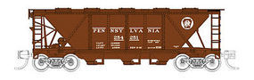 Fox H30 3-Bay Covered Hopper Pennsylvania Railroad #254289 N Scale Model Train Freight Car #90506