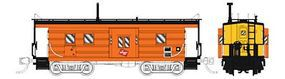 Fox Low-Window Rib-Side Caboose Milwaukee Road #991 N Scale Model Train Freight Car #91019