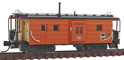 Fox Valley Models Low-Window Rib-Side Caboose Milwaukee Road #992 -- N Scale Model Train Freight Car -- #91020